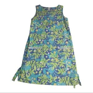 Lilly Pulitzer Vintage Green Tropical Shift Dress